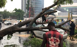 PHOTOS: Rainstorm destroys cars, worsens Lagos gridlock