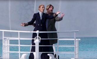WATCH: Celine Dion recreates iconic 'Titanic' scene with James Corden