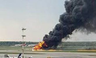 41 killed as plane burst into flames at Moscow airport