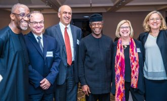 PHOTOS: Osinbajo dines with Harvard  professors in Lagos