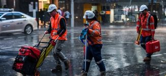 Australian workers entitled to go home once it starts raining