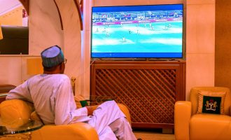 Buhari joins millions of Nigeria to watch Eagles Vs Burundi