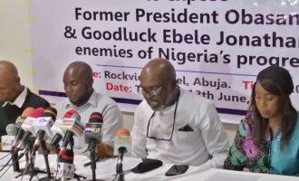 Group asks FG to probe Obasanjo, Jonathan