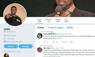 Beware of fake COZA Twitter account