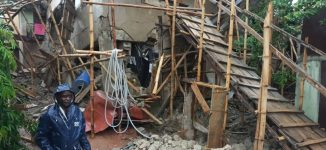 PHOTOS: Three in hospital as another building collapses in Lagos