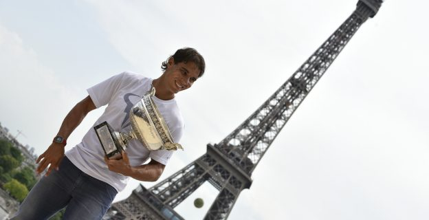 Nadal's 12 titles in photos