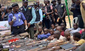 PHOTOS: Police parade 'kidnappers' of UBEC chairman