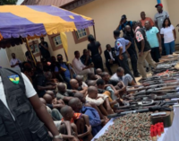 Police arrest 38 suspects for armed robbery, kidnapping