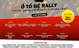 'Yoruba Koya' to hold rallies in eight states over insecurity