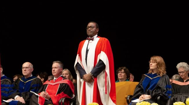 Day Adesina got honorary doctor in Canada