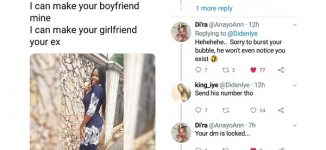 Tale of Akin: How over-confident lady lost her boyfriend in a bet