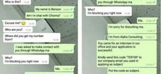 Chioma vs Benson: How applicant lost a job opportunity over impatience