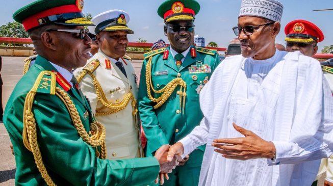 Buhari promotes Lamidi Adeosun to Lt Gen — same rank with Buratai