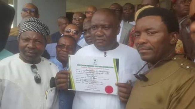 Finally, INEC issues certificate of return to Imo senator-elect