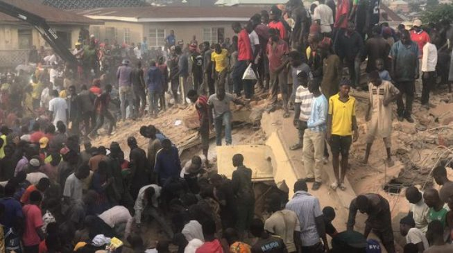 'Many trapped' as building collapses in Jos
