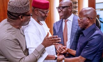 Obaseki, Oshiomhole 'reunite' at Aso Rock