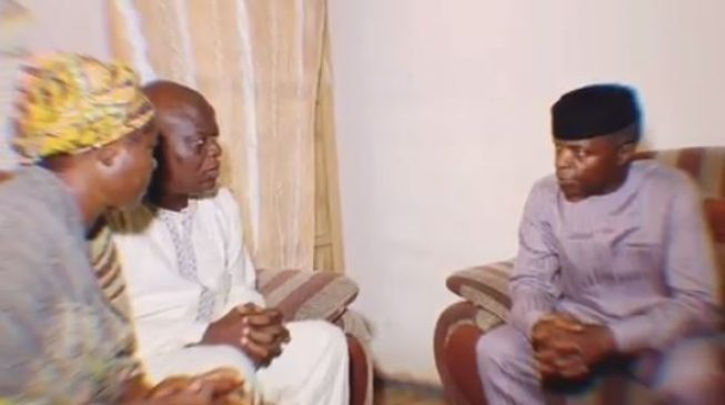 VIDEO: Osinbajo, el-Rufai visit family of late Channels TV reporter