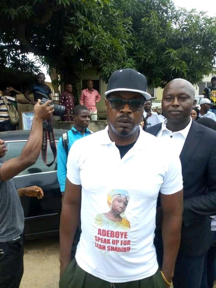 RCCG protest3 - [PHOTOS] Eedris Abdulkareem, Baba Fryo, others ask Pastor Adeboye to speak on RUGA settlement