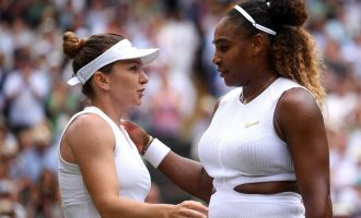 Halep crushes record-chasing Serena Williams  to win first Wimbledon title