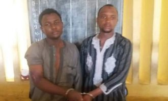 PHOTO: The suspects arrested for allegedly kidnapping father-in-law of Buhari's ADC