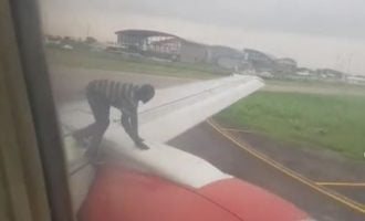 Passengers panic as man prevents aircraft from leaving Lagos airport