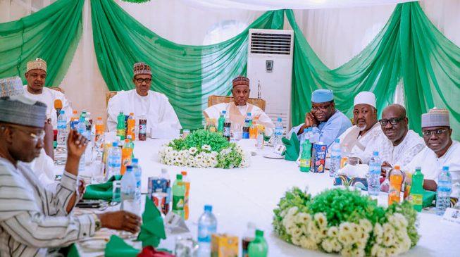 PHOTOS: Buhari hosts APC governors in Daura