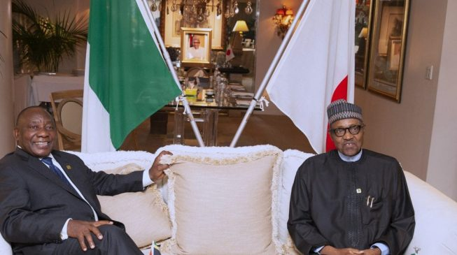 S'African president meets Buhari, says killing of Nigerians is 'upsetting'