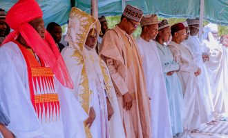 PHOTOS: Buhari, Guinean president pray together in Daura