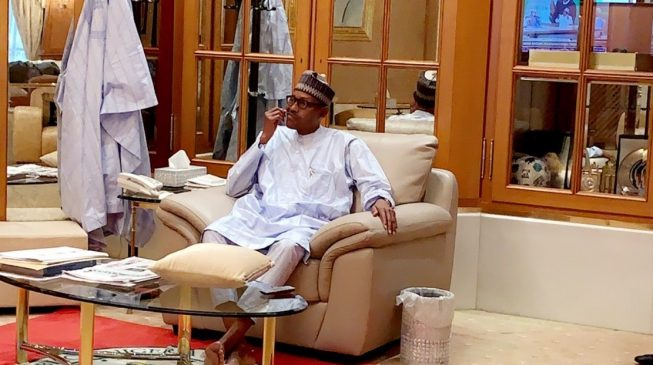 Presidential aide asks: Why are people angry over picture of Buhari using toothpick?