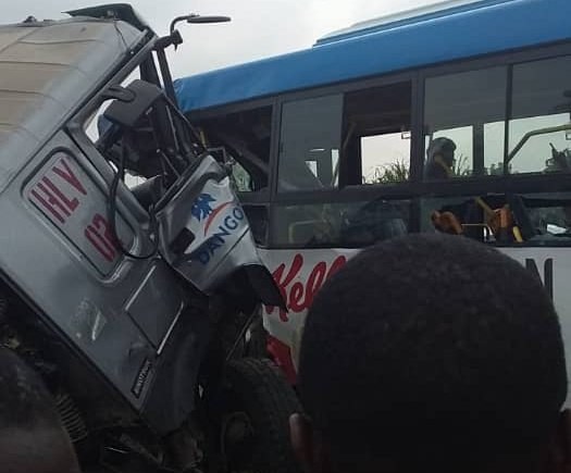 JUST IN: Dangote truck in fatal collision with BRT bus in Lagos - TheCable