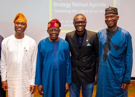 Tinubu, Fashola join Sanwo-Olu at retreat for Lagos cabinet members - TheCable