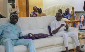 Obaseki pays surprise visit to Oshiomhole