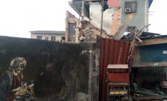 PHOTOS: Two-storey building collapses in Lagos