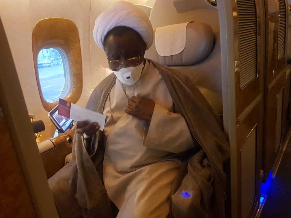 IMG 20190812 WA0063 - See Photos of El-Zakzaky on board plane to India