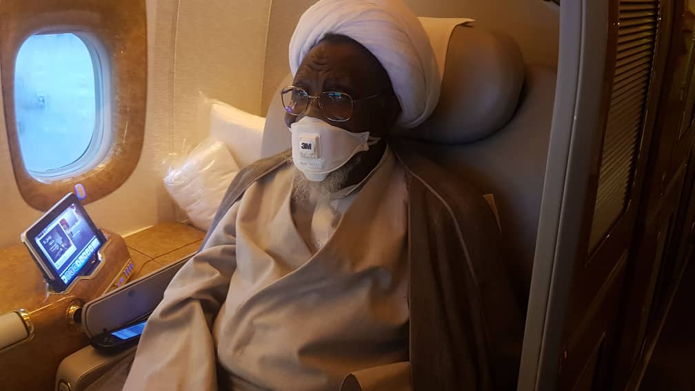 IMG 20190812 WA0065 - See Photos of El-Zakzaky on board plane to India