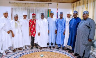 PHOTOS: Lawan leads senators to visit Buhari in Daura