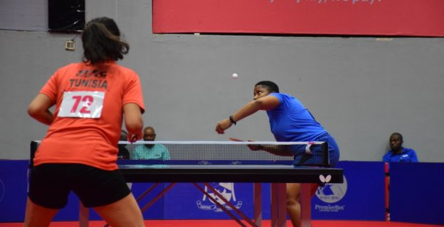 Action images from 2019 ITTF Africa Cup