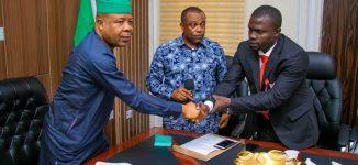 Ihedioha unveils former MFM gaffer, Fidelis Ilechukwu as Heartland FC coach