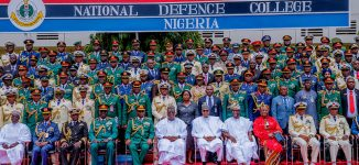 PHOTOS: Buhari attends ceremony for defence college graduates