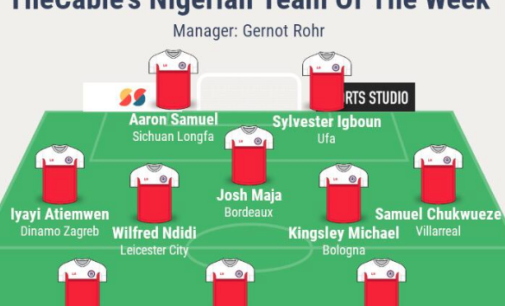 Chukwueze, Ndidi, Igboun… TheCable's team of the week