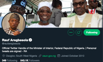 EXTRA: Aregbesola updates Twitter profile 20 minutes after inauguration