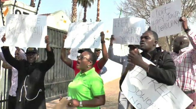 Nigerians in South Africa protest Sowore's arrest