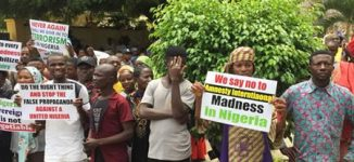 JUST IN: Protesters storm Amnesty office, ask group to vacate Nigeria