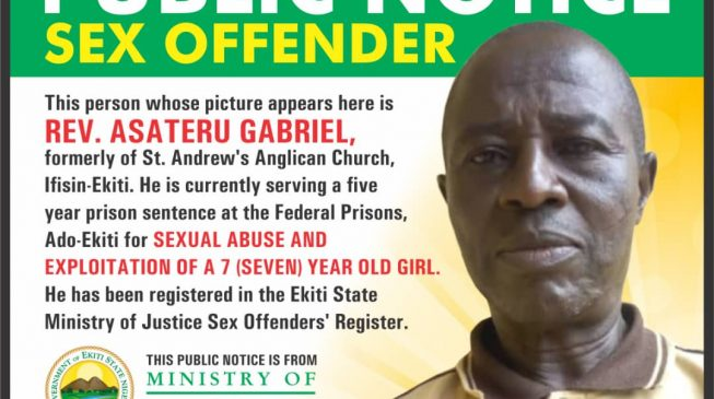 Ekiti begins public naming, shaming of sex offenders