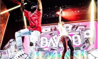 WATCH: Chris Brown, Davido thrill crowd at Barclays Centre