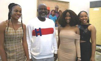 Dino Melaye hosts seven BBNaija-evicted housemates in Abuja