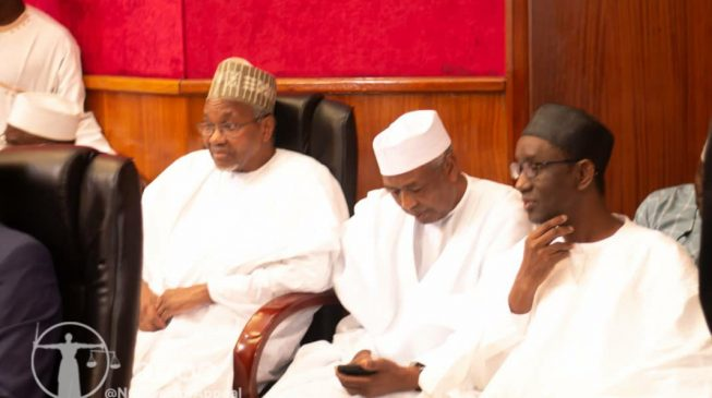 PHOTOS: Mamman Daura, Isa Funtua storm tribunal over judgement on Atiku vs Buhari
