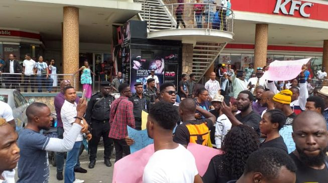 Image result for Video: Nigerians protest at Shoprite Outlets over Xenophobic Attacks