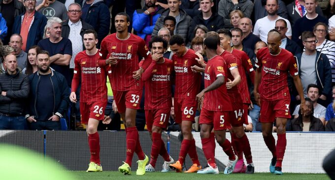 Liverpool maintain perfect start at Chelsea, ten-man Arsenal hurt Aston Villa