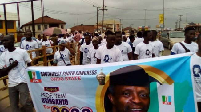 PHOTO: No lies can stop Osinbajo from becoming president in 2023, says Ondo youth group